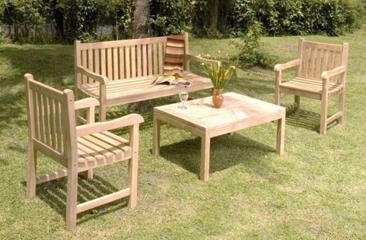 mobili da giardino in legno mobili da giardino