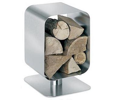 porta legna in alluminio
