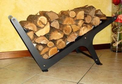 Porta legna mobili da giardino - Porta legna per camino ...