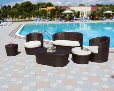 salotto da giardino utilizzabile anche per piscina