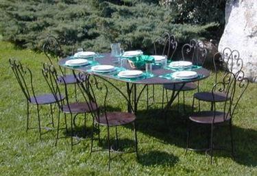 Tavoli da giardino in ferro mobili da giardino for Giardino e arredamento esterni