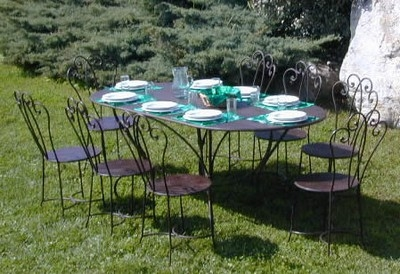 Tavoli da giardino in ferro mobili da giardino for Tavolo ferro esterno