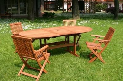 Tavoli da giardino in legno mobili da giardino for Set giardino legno