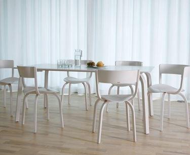 tavolo e sedie in plastica per interno