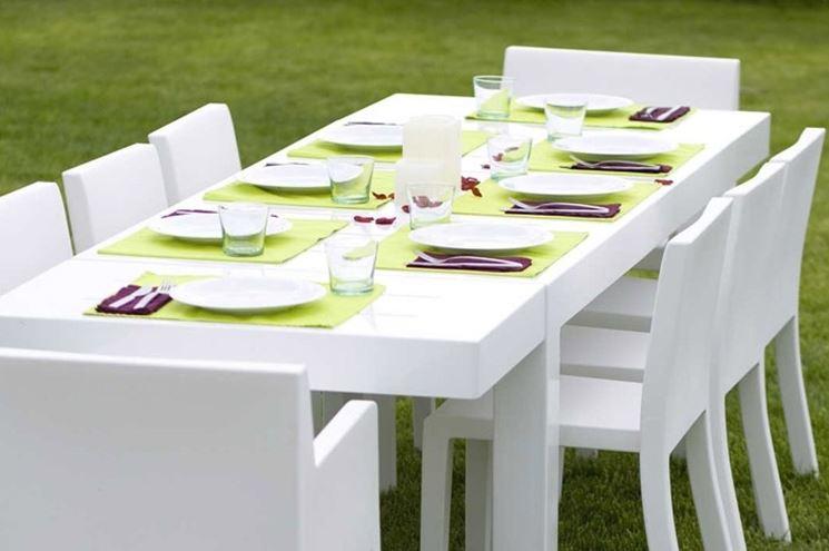 Tavolo E Sedie Da Giardino Bianco.Tavoli In Plastica Da Giardino Mobili Da Giardino Tavoli