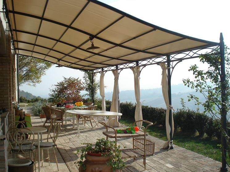 Coperture da giardino - pergole e tettoie da giardino - Come realizzare coperture per giardino