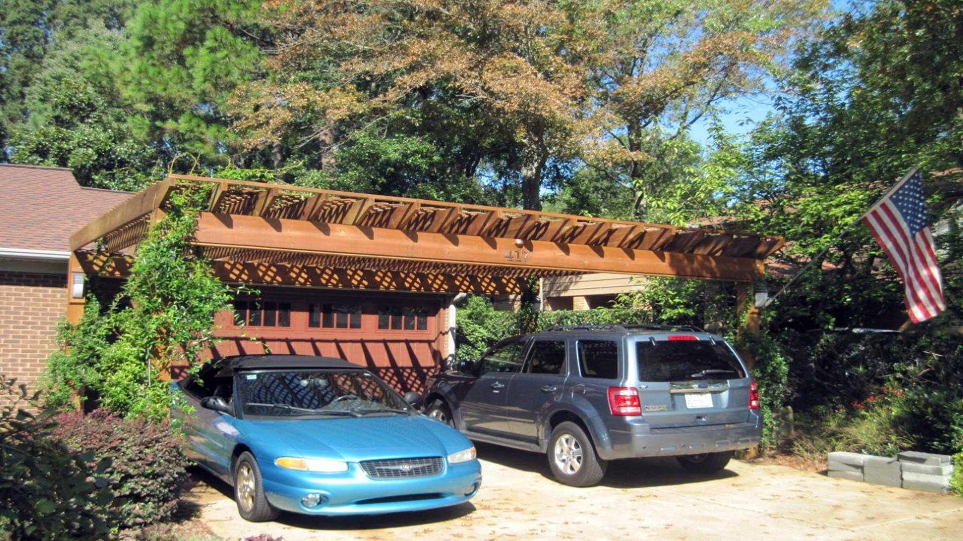 Coperture per auto pergole e tettoie da giardino for Tettoie per auto usate
