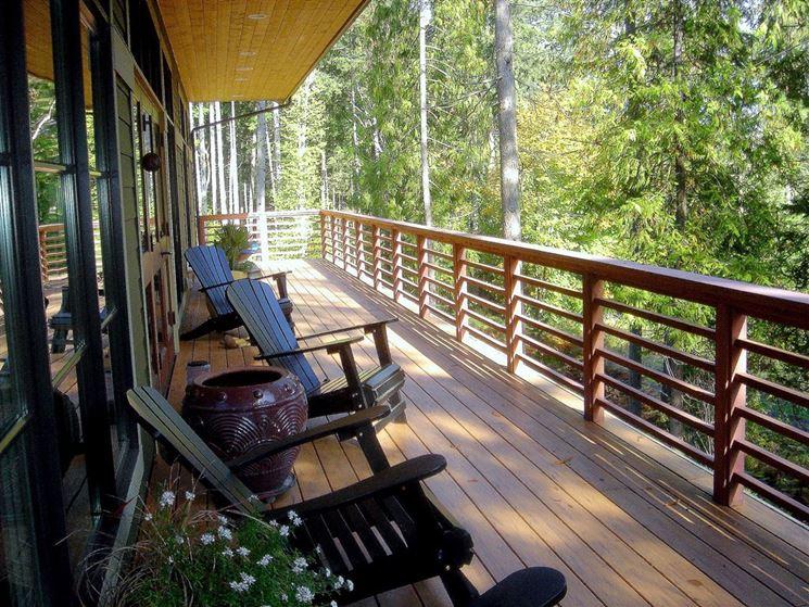 copertura balcone in legno