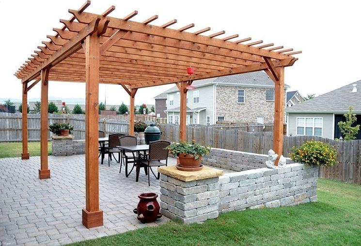 Coperture per esterni pergole e tettoie da giardino tipologie e caratteristiche delle - Copertura lavatrice da esterno ...