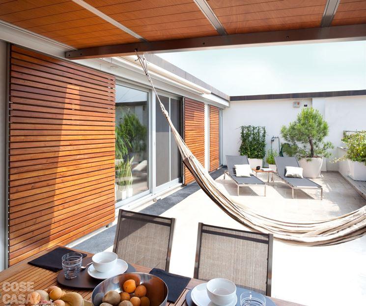 Coperture per terrazzi pergole e tettoie da giardino - Soluzioni per copertura terrazzi ...
