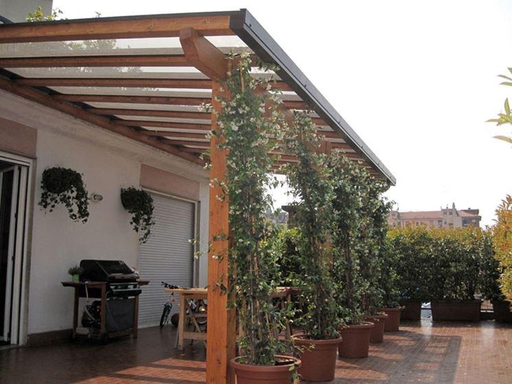 Coperture per tettoie - pergole e tettoie da giardino - Tipologie di coperture per tettoie