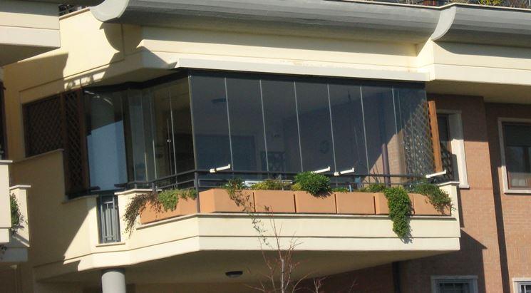 Coperture terrazzi in vetro