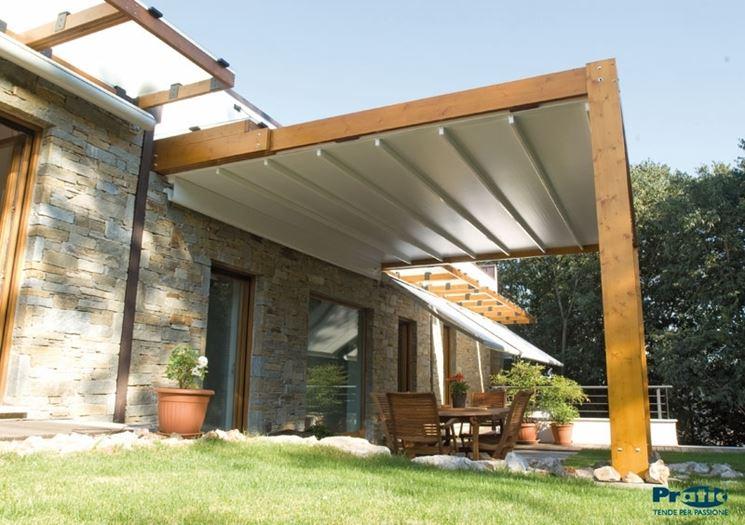 Pensilina policarbonato pergole e tettoie da giardino - Pergola da giardino ...
