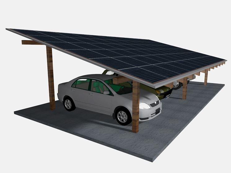Pensiline fotovoltaiche pergole e tettoie da giardino - Tettoie in legno per esterno ...