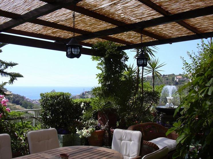 Pensiline in ferro battuto pergole e tettoie da giardino caratteristiche delle pensiline in - Tettoie da giardino in ferro ...