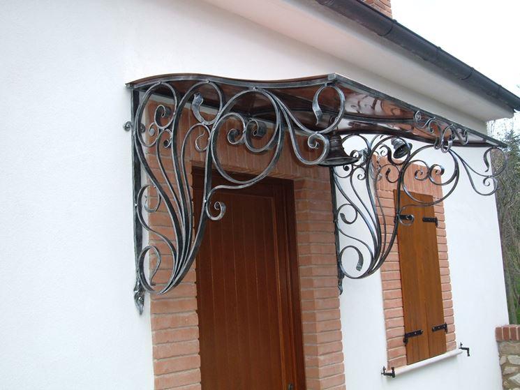 Super Pensiline in ferro battuto - pergole e tettoie da giardino  IO63