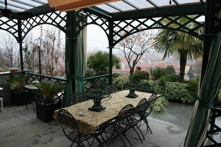 Pensiline in ferro pergole e tettoie da giardino caratteristiche delle pensiline in ferro - Tettoie da giardino in ferro ...