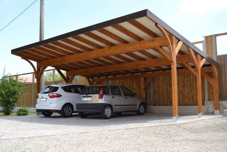 Pensiline in legno pergole e tettoie da giardino for Piani garage separati con posto auto coperto