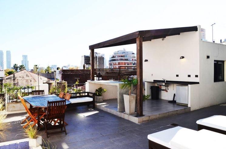 Strutture in legno per terrazzi - pergole e tettoie da ...