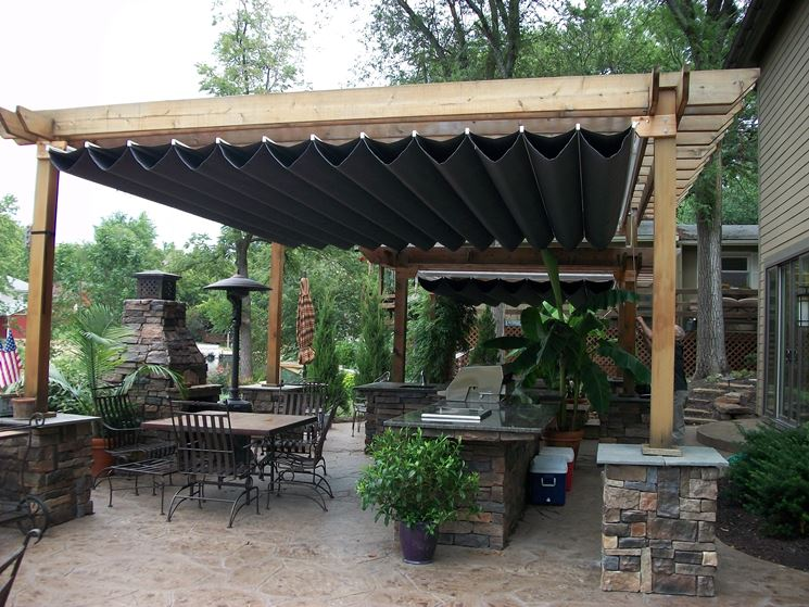 Tettoie per esterni pergole e tettoie da giardino - Pergole da giardino ...