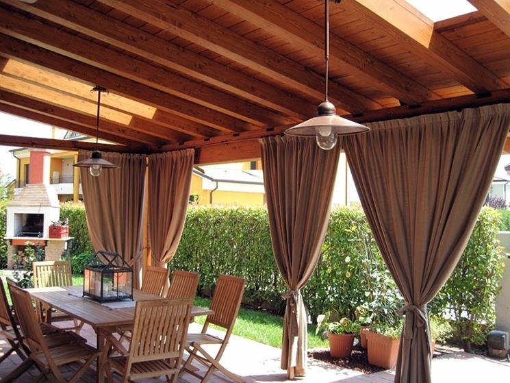Illuminazione per gazebo in legno: illuminazione gazebo legno