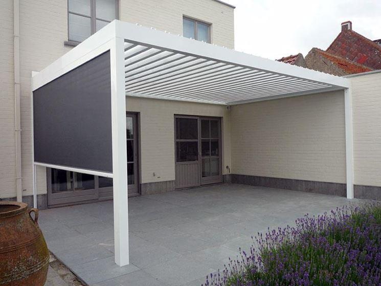 tettoia in alluminio