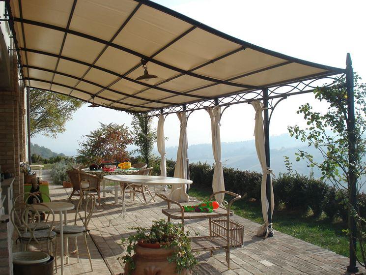 Tettoie in ferro battuto pergole e tettoie da giardino for Tettoie in ferro prezzi e offerte