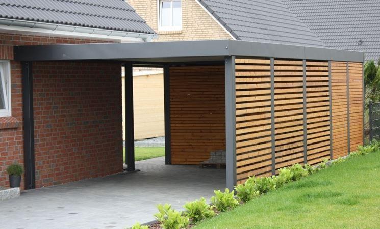 tettoia legno ferro