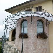 tettoie in ferro battuto