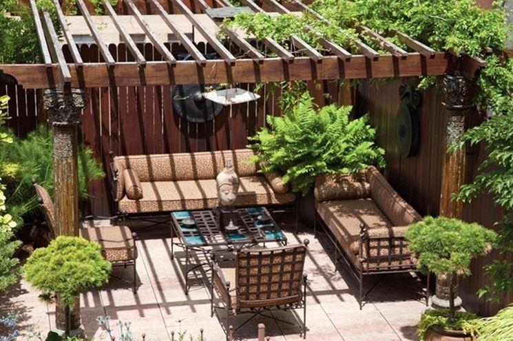 Tettoie per terrazzi pergole e tettoie da giardino for Mobili da terrazzo in legno