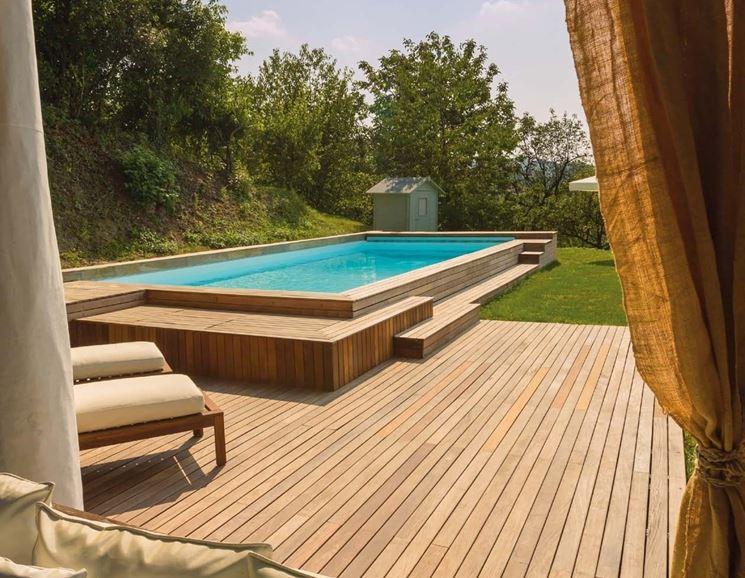 giardino con piscina design esterni : Piscine da giardino fuori terra - piscine - Piscine fuori terra