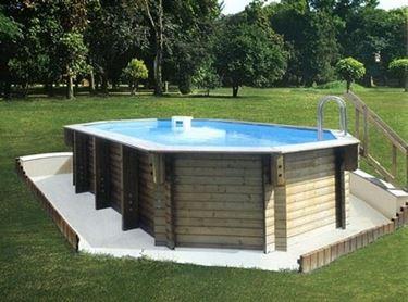 piscina in legno da giardino