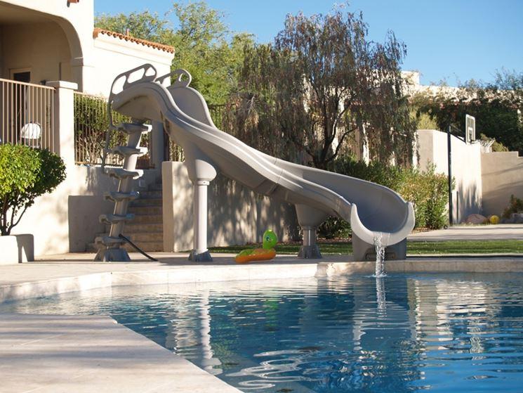 scivolo per piscina