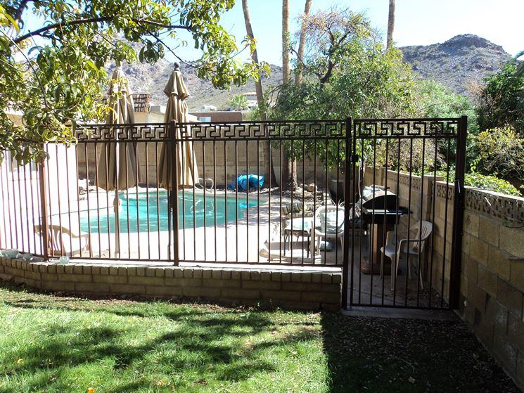 recinzioni in ferro ingresso pedonale