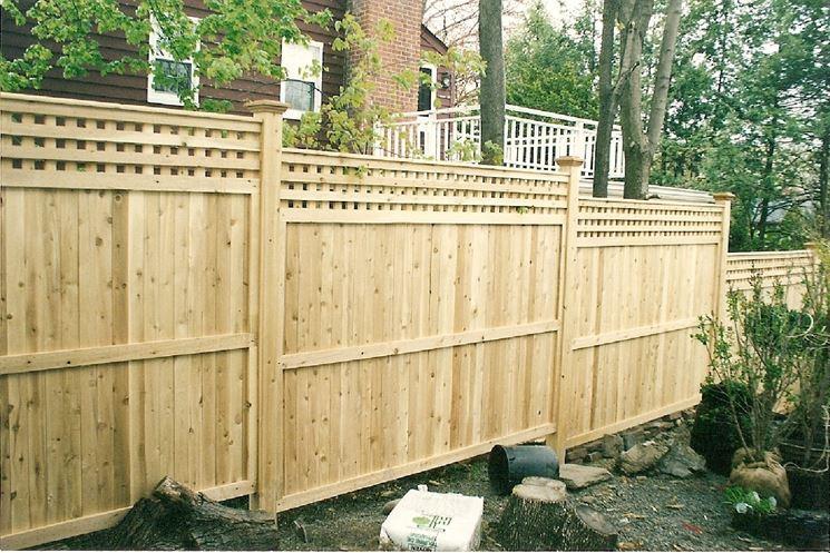 recinzioni prefabbricate in legno
