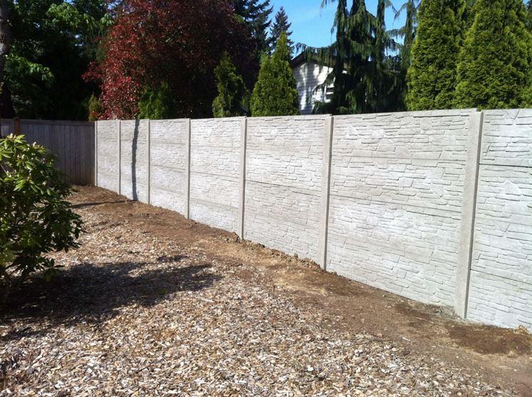 recinzioni prefabbricate in cemento