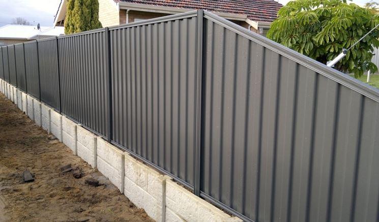 recinzione prefabbricate in metallo