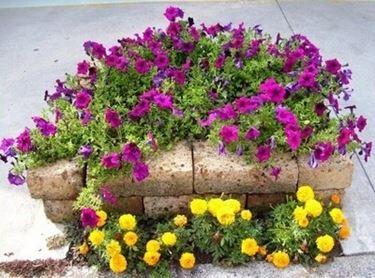 fioriera da giardino in pietra