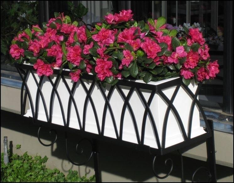 esempio di fioriera in ferro lavorato