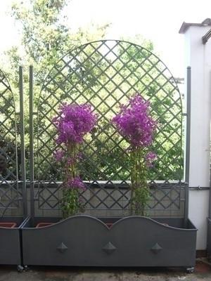 Fioriere vasi e fioriere guida alla scelta delle fioriere for Fioriera con spalliera plastica