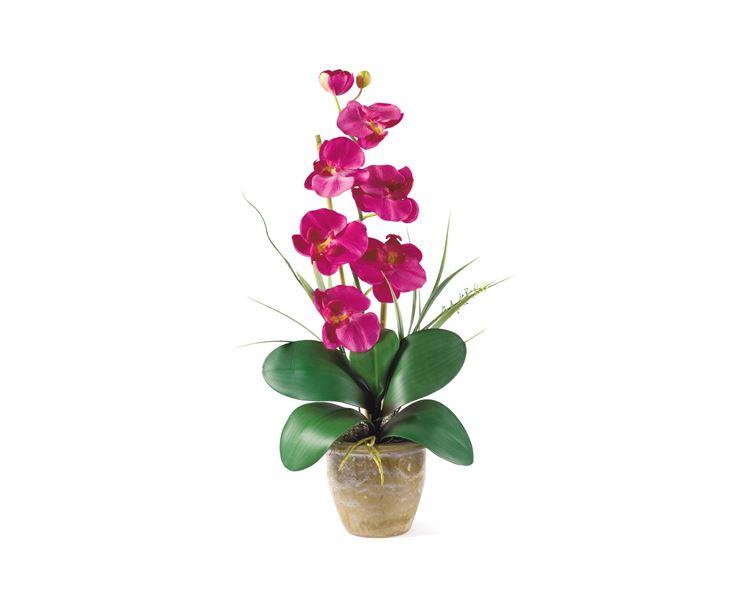 Composizione con orchidee artificiali