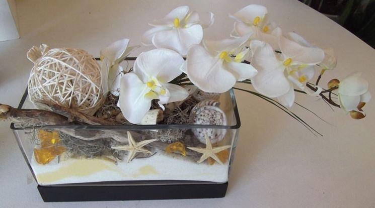 Composizioni fiori artificiali composizioni di fiori - Centrotavola natalizi con fiori finti ...