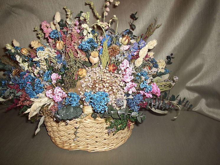 il cestino delle feste con fiori artificiali