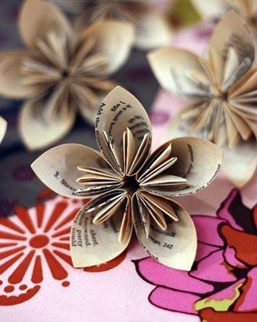 Dettaglio fiori semplici origami