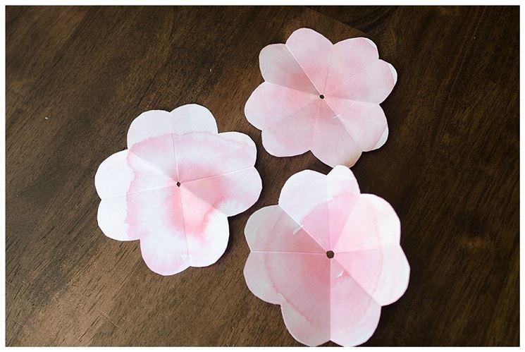 Petali del fiore di carta