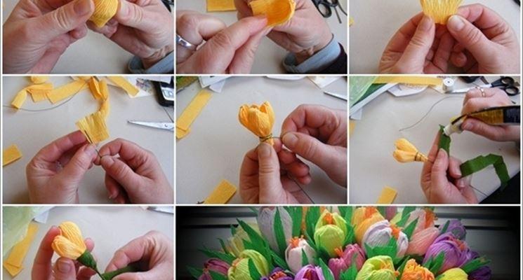 Come fare crochi di carta crespa