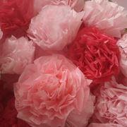 Gardenia di carta crespa