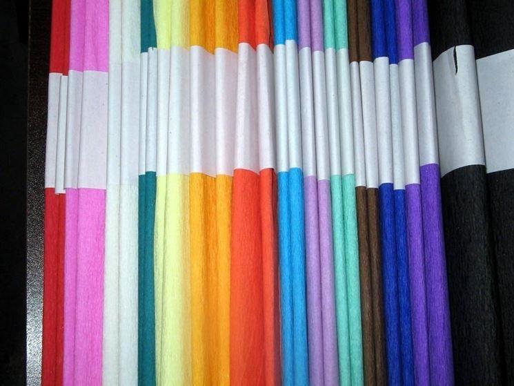 Carta crespa di tutti i colori