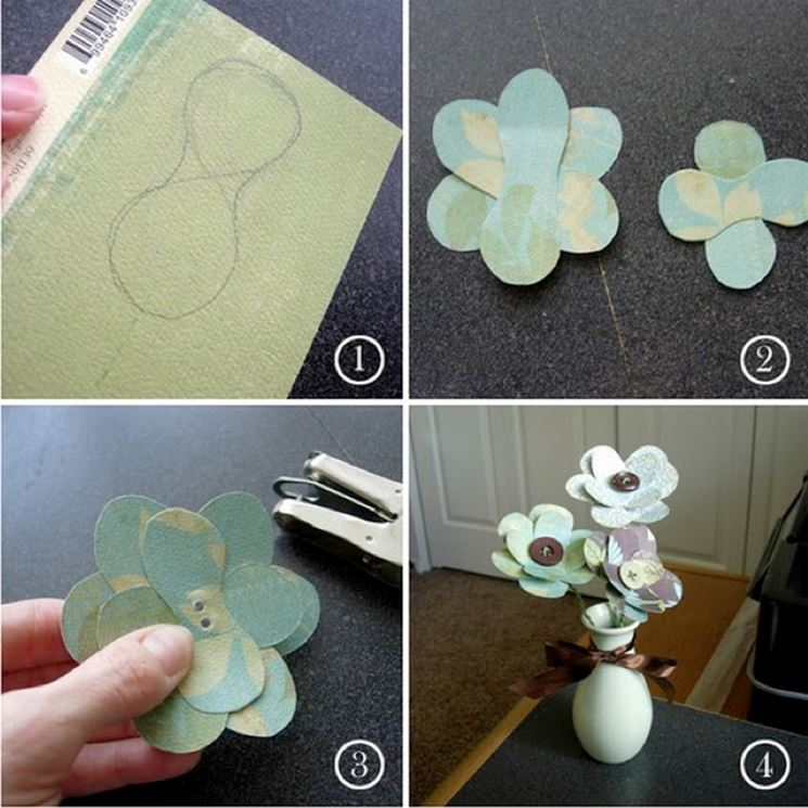 Fiori di carta esecuzione fiori di carta fiori di for Fiori di cartoncino
