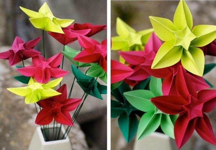Fiore di carta ultimato